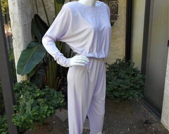 Vintage 1980's a la Carte Lavender Jumpsuit - Size 5/6