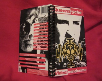 "Queensryche ""Video: Mindcrime"" VHS notebook"