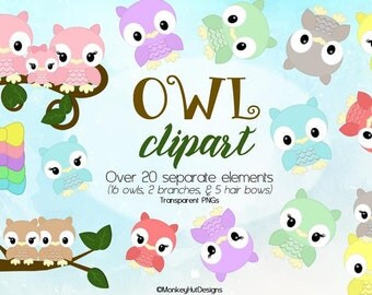 Adorable Owl Clip Art Owls Couple Family clipart set INSTANT DOWNLOAD Several wonderful colors pink blue perfect for creative projects!