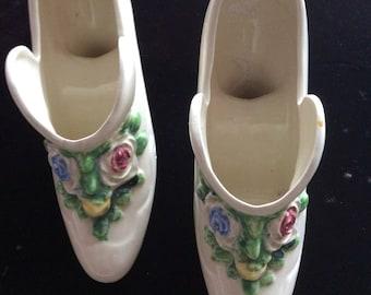 Vintage decorative china shoes