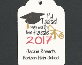 GRADUATION 50 PERSONALIZED Thank you  - Graduation Favor tags-Gift tags-Hang Tags