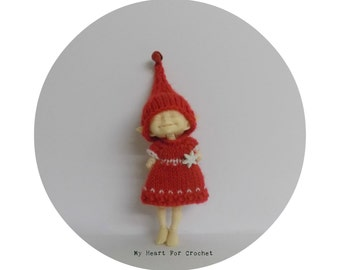 Realpuki Red Snowflake Dress and Jingle Elf Hat