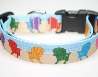 "Beach Chairs - 1"" Wide Adjustable Dog Collar"