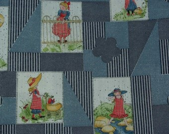 Holly Hobbie Vintage Cotton Fabric 2 1/4 yards by Manes American Greetings
