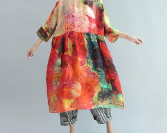 Women Oversized dress summer sundress Loose maternity dress