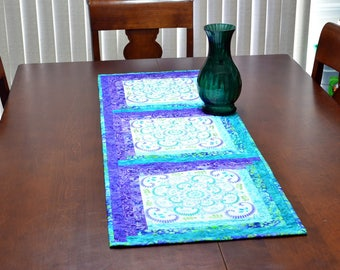 Embroidered Table Runner - Blocks of Symmetry Embroidered Table Runner