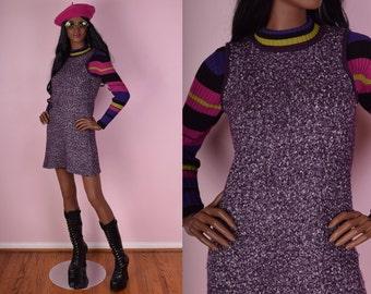 90s Sweater Dress/ Small/ 1990s/ Tank/ Sleeveless/ Knit