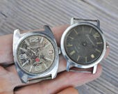 Vintage Soviet Russian wrist watches for parts.Didn't work.