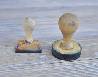 Vintage wooden ink stamps.