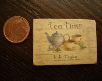 dollhouse miniature image   vintage tea time