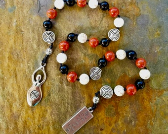 Pagan Prayer Beads, Triple Goddess Prayer Beads