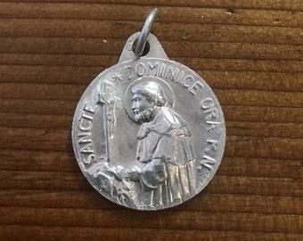 Vintage St Dominic Saint Rosaire Aluminum Silver Medal France