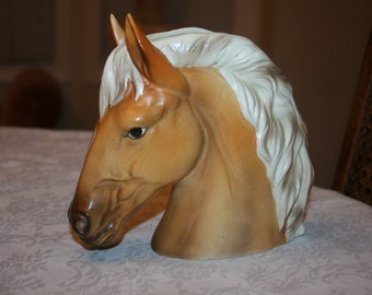 Rare Vintage Parma By AAI Ceramic Horse Head Planter Made in Japan