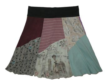 Italy T-Shirt Skirt Size 16 18 Plus Size XL 1X Hippie Skirt Women's upcycled clothing Repurposed Skirt Twinkle Skirts from Twinklewear