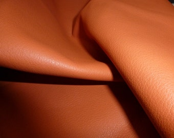"""RESTOCKED Leather 12""""x12"""" PERSIMMON  Orange KING line Full Grain Cowhide 3-3.5 oz/1.2-1.4mm PeggySueAlso"""