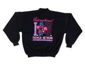 Deadstock 1990 IOU Fashion Network Vapor Aesthetic Poly/Cotton Crewneck - L / XL