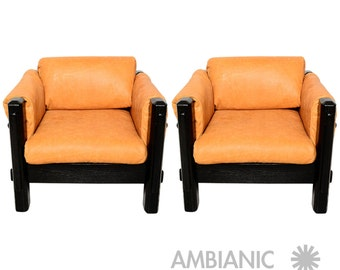 Mid Century Modern Pair of Brazilian Armchairs