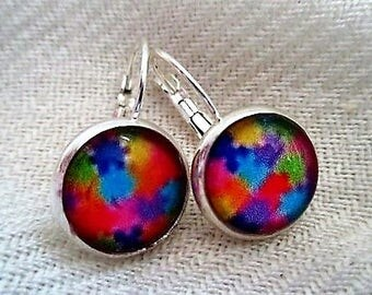 Autism Silver Earrings