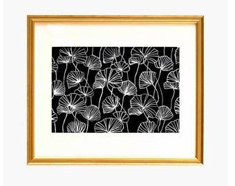 Black Poppy Print