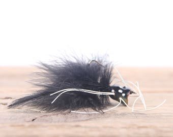 Vintage Fly Fishing Lure /  Black Fly Fishing Lure / Fishing Decor / Old Fishing Lure