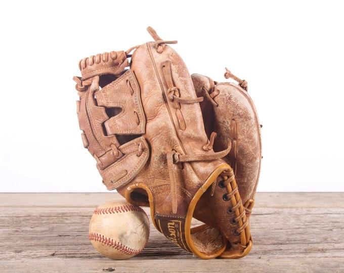 Old Vintage Leather Baseball Glove / Wilson Richie Zisk Baseball Glove / Antique Baseball Glove / Old Glove Antique Mitt / Baseball Decor