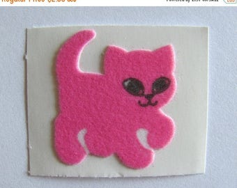 SALE Sweet Fuzzy Pink Kitty Cat Sticker