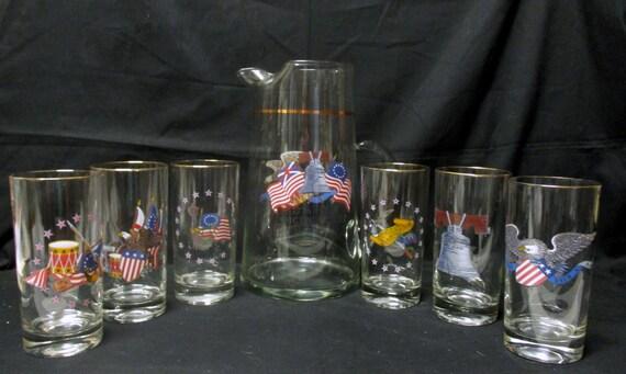 Vintage Bi-centenary pitcher and glass set