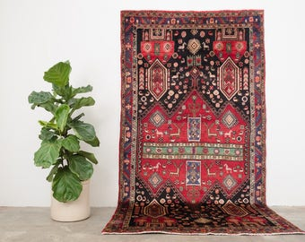 SAMIAR 4.5x9 Hand Knotted Persian Wool Rug