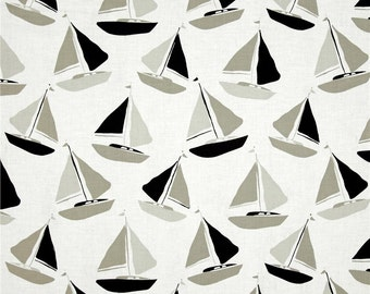 Tan Sailboats from Andover's Tides Collection By Jane Dixon