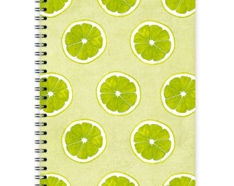 Notebook A5 - Lime Pattern