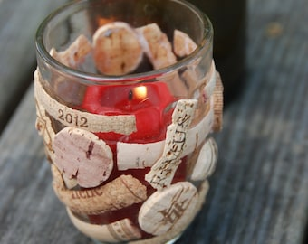 Wine Cork Candle Holder OOAK Votive
