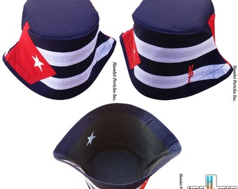 Cuba Flag Unisex Bucket Hat | Cuban Hat | Country Hat | Island | Caribbean | Sun Hat | Red, White, Blue Hat by Hamlet Pericles | HP22316b