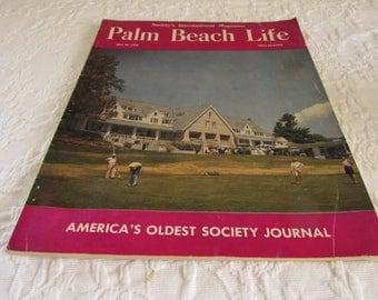 Vintage Palm Beach Life Magazine/Society Journal 1958/Retro Magazine Ads/Black and White Photos/Wealthy Travel/Golf/Parties/Weddings