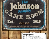 """Family Game Room Sign // Metal Sign // 12""""x16"""""""