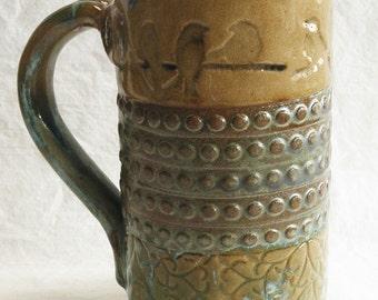 Birds on a branch stoneware 20oz coffee mug 20C040