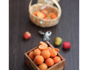 Miniature Oranges in Wooden Crate 4 GB Flash Drive