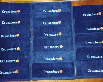 16 basketball or volleyball towels, outline design with one name