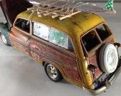 Scale Model Car,Surf Woodie,Classicwrecks,Surfing,Junkyard,Dude,ModelHobby