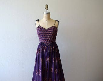 RESERVED . Do not purchase . 1970s India cotton dress . vintage 70s sundress