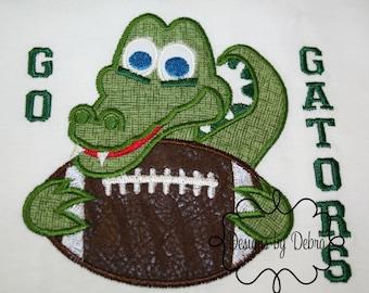 boys go gators football / sport shirt/ gator/ alligator/ children top