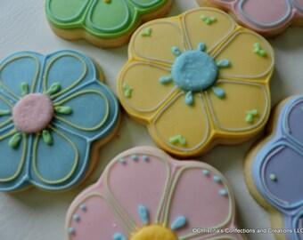 Flower - Floral Cookies - (#2434)