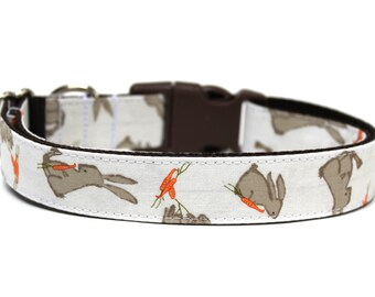 "Easter Dog Collar 1"" Bunny Dog Collar Spring Dog Collar"
