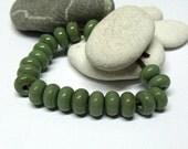 Olive, Lampwork Spacer Beads, SRA, UK