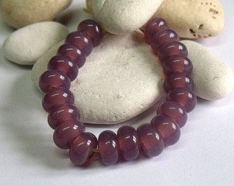 Misty Grape, Lampwork Spacer Beads, SRA, UK