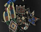 Mixed Lot KUCHI Afghan Tribal Jewelry BROKEN Parts Findings Beads Pendants Belly Dance Costume Supply KP12 Uber Kuchi®