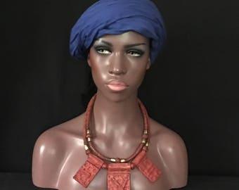 Tuareg African LEATHER Grigri Gris Gris Necklace AMULET Talisman Mali Tribal Collectible Uber Kuchi®