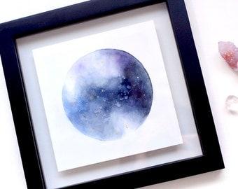custom watercolour planet   ORIGINAL