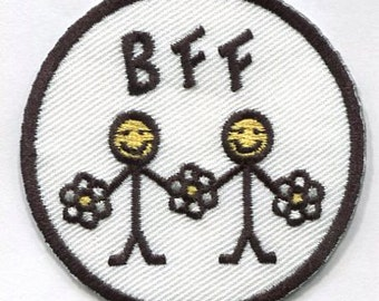 Iron on and stick on best friend forever