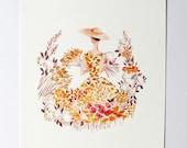 SALE Yellow Flowers Art Print