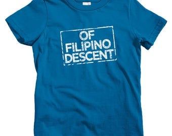 Kids Of Filipino Descent T-shirt - Baby, Toddler, and Youth Sizes - Kids Tee, Proud Filipino  Kids, Pinoy Kids, Pilipinas Kids, Philippines